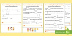 KS1 Summer Holiday Missing Emojis Differentiated Activity Sheets