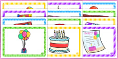 8th Birthday Party Place Mats