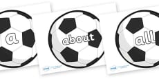 100 High Frequency Words on Football