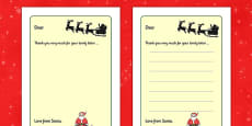 My Letter from Santa Writing Template