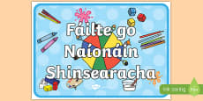 Welcome to Senior Infants Display Poster Gaeilge