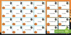 * NEW * Halloween Matching Cards Spanish
