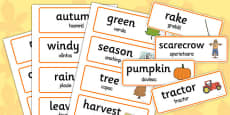 Autumn Topic Words Romanian Translation