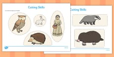 The Mitten Cutting Skills Activity Sheet