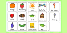 Australia - Flash Cards to Support Teaching on The Very Hungry Caterpillar