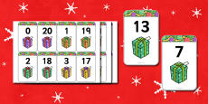 Number Bonds to 20 Matching Cards (Presents)