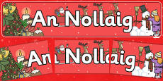 Christmas Display Banner (Irish)