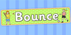 Bounce Themed Banner
