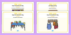 'We Can' Classroom Rule Display Posters English/Romanian