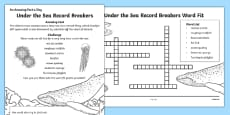 Under the Sea Record Breakers Activity Sheet