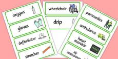 Paramedics Word Cards