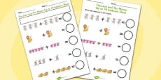 The Lion And The Mouse Up to 10 Addition Sheet