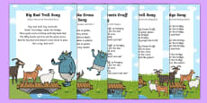 The Three Billy Goats Gruff Songs and Rhymes Resource Pack