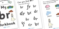 My 'br' Letter Blend Workbook