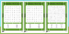 Wimbledon Themed Differentiated Word Search