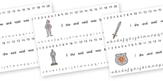 Combined Alphabet and Number Strips (Castles & Knights)