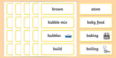 All Mixed Up Word Wall Display Cards