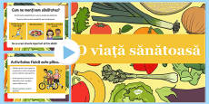Healthy Eating and Living PowerPoint Romanian