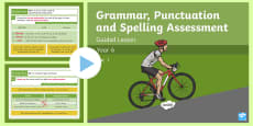 Year 6 Grammar, Punctuation and Spelling Test 1 Guided Lesson PowerPoint