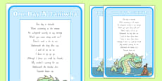 One Day A Taniwha Song A4 Display Poster