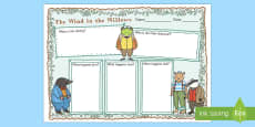 The Wind in the Willows Story Review Writing Frame