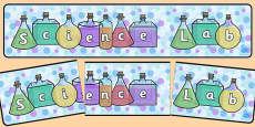 Science Lab Display Banner