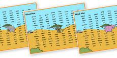 Safari Themed Word Mats KS1