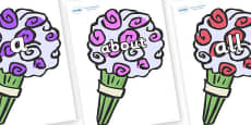 100 High Frequency Words on Bouquets