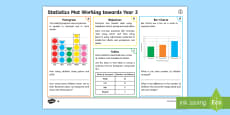 * NEW * Year 3 Statistics Differentiated Maths Mat