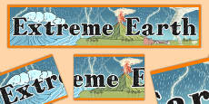Extreme Earth Display Banner