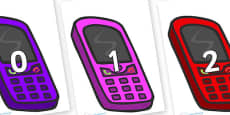 Numbers 0-50 on Mobiles