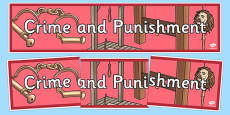 Crime and Punishment Display Banner