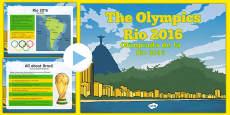 KS2 Olympic Games Rio 2016 PowerPoint Romanian Translation