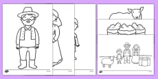 Baa Baa Black Sheep Colouring Pages