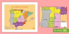 Tapiz de Bee Bot: Las ciudades principales de España
