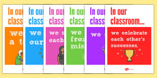 In Our Classroom Display Posters