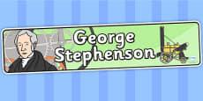 George Stephenson Display Banner