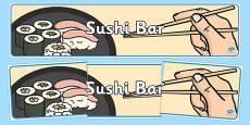 Sushi Bar Role Play Banner