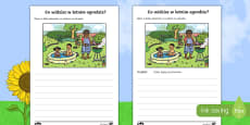 Ćwiczenie do nauki pisania Letni ogród