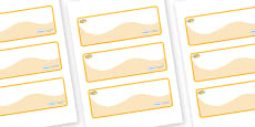 Egypt Themed Editable Drawer-Peg-Name Labels (Colourful)