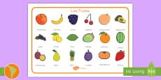 Tapiz de vocabulario: Las frutas