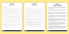 Australia - Levelled Comprehension Activity Sheets to Support Teaching on Matilda