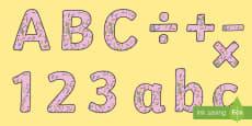 Sprinkles Display Letters and Numbers Pack