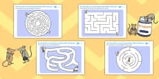 The Town House and the Country Mouse Differentiated Maze Activity Sheet Pack