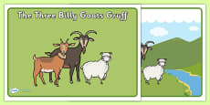 The Three Billy Goats Gruff Story Sequencing