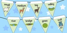 The Three Billy Goats Gruff Bunting