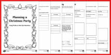 Maths Problem Solving KS2 Planning a Christmas Party Differentiated Maths Activity Booklet