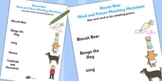 Word and Picture Match to Support Teaching on Biscuit Bear