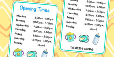 Baby Clinic Role Play Opening Times
