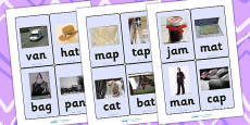 CVC Photo Word Cards a